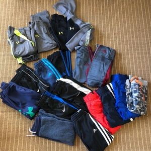 Boys 4T assorted clothing (Adidas/UnderArmour)